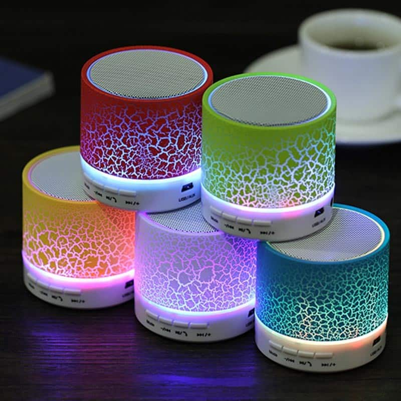 Mini Caixa de Som Exbom Bluetooth com Led