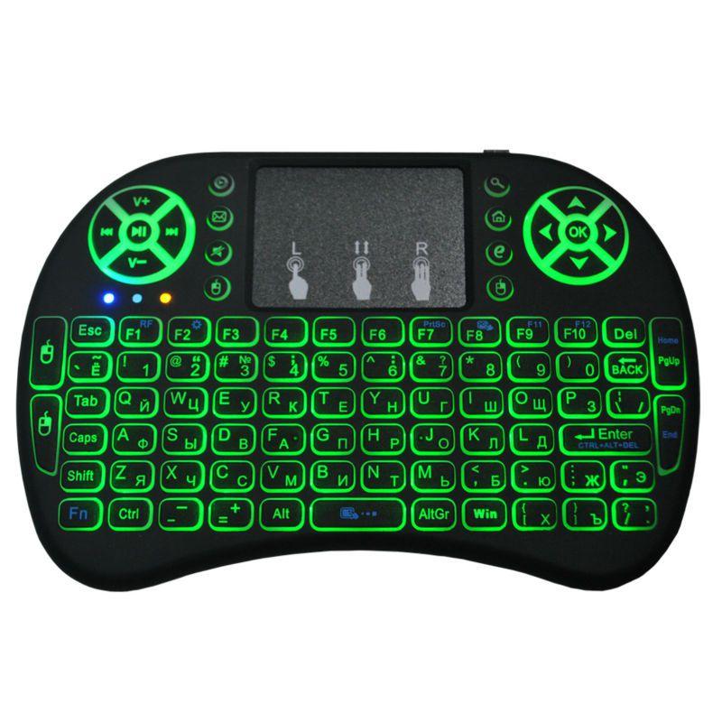 Mini Controle Teclado Sem fio Keyboard Wireless Com Luz de Led