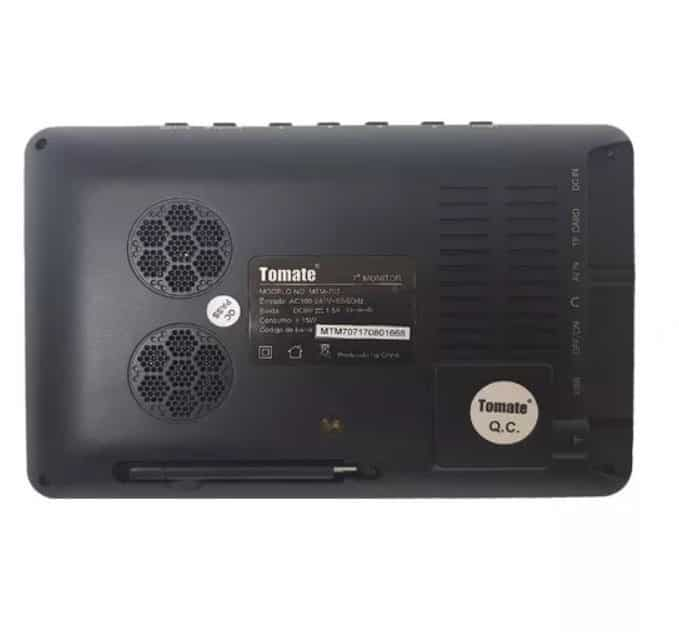 Monitor 7 Polegadas - 1024 x 600 Led Display Tomate