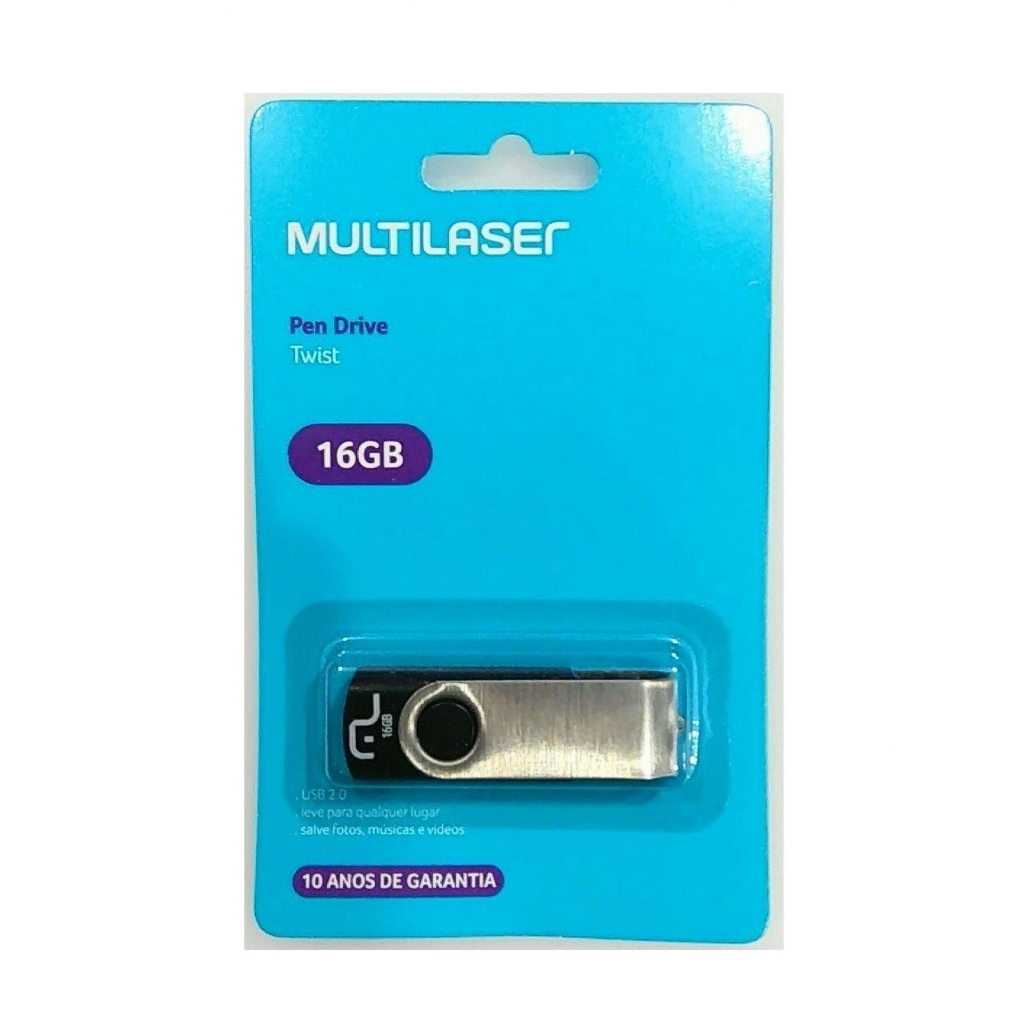 Pen Drive Twist 16gb Multilaser PD588
