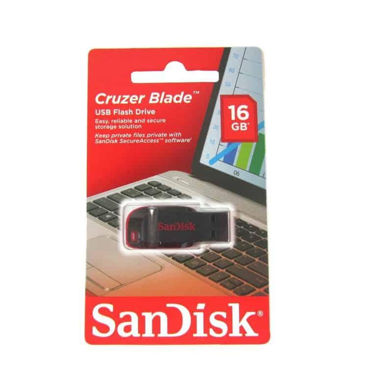 Pendrive Cruzer Blade USB 16gb SanDisk