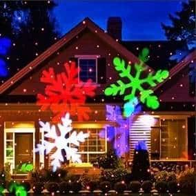 Projetor Foyu Outdoor Laser Light Flocos de Neve