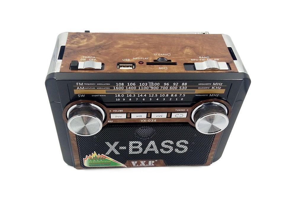 Rádio Retro recarregável - Lelong LE-617