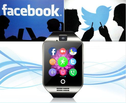 Relógio Smartwatch Bluetooth com Câmera Q18