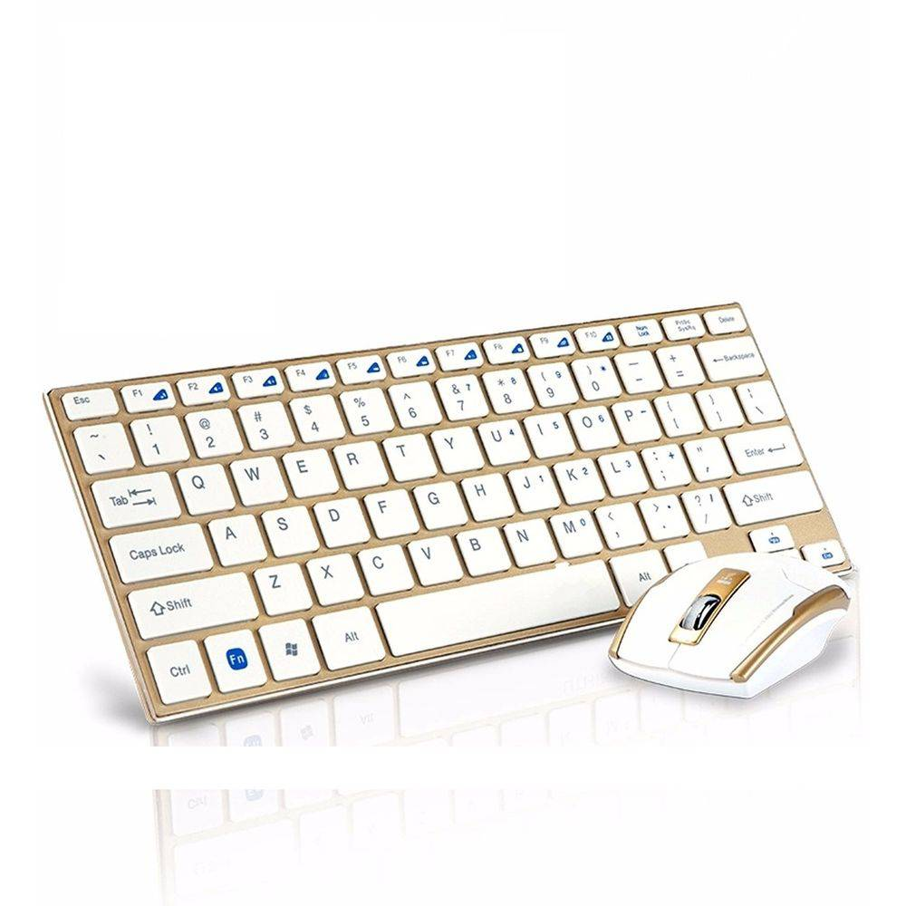 Teclado E Mouse S/ Fio Ultrafino 2,4ghz Wireless Usb Hk-3910