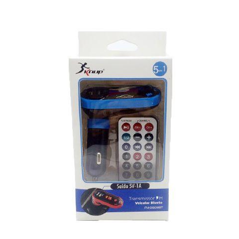 Transmissor FM Veicular Bluetooth 5 em 1 FM-039 Knup