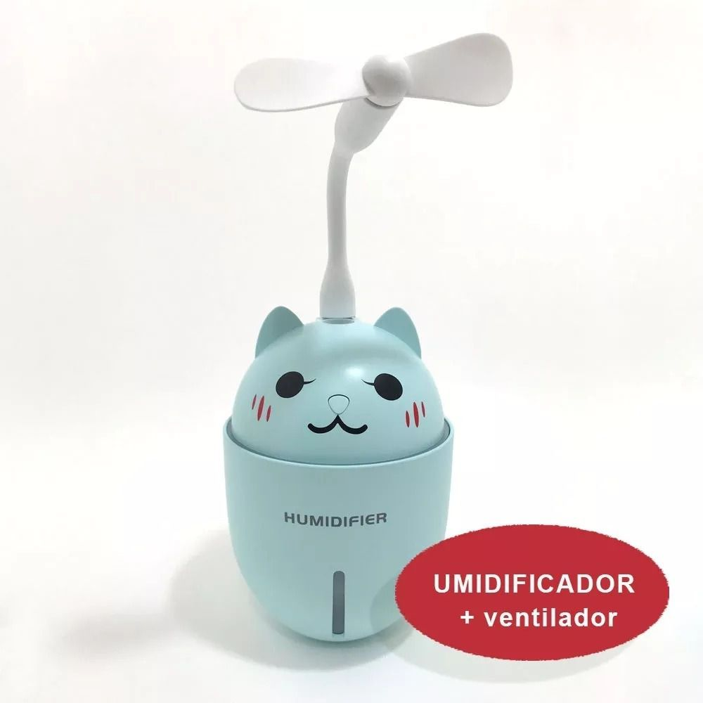 Umidificador E Mini Ventilador Adorable Pet 3 Em 1 Usb Led Y1 Humidifier