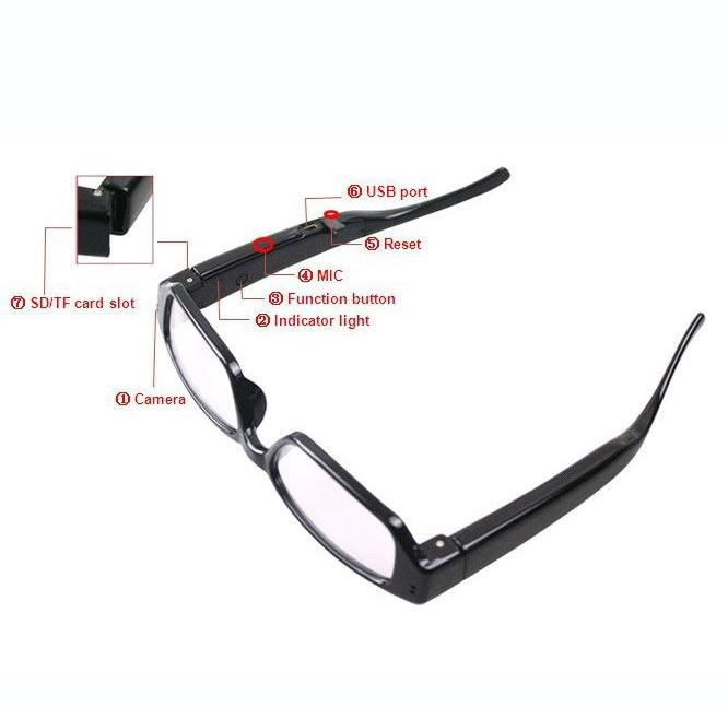 03b833f45 Óculos Espião Filmadora Câmera HD (High Definition) 1280x720 ...