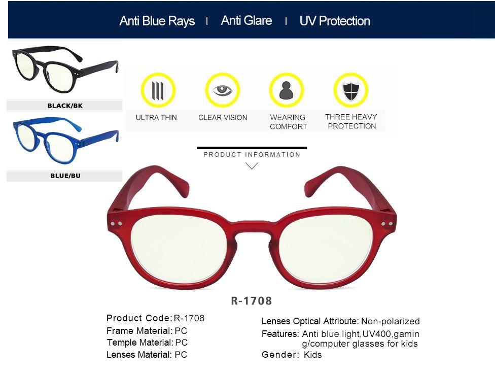 e0c5c86571b8a Óculos Infantil Criança Leitura Anti Raios Azuis Celular - RickShop ...