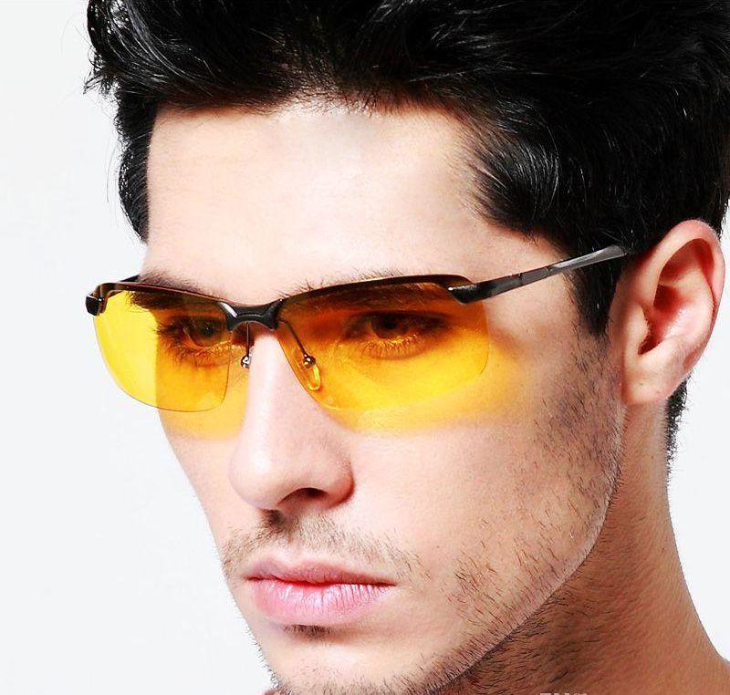 49651ed9243ef Óculos Visão Noturna Polarizado UV400 Dirigir Noite Polarizado ...