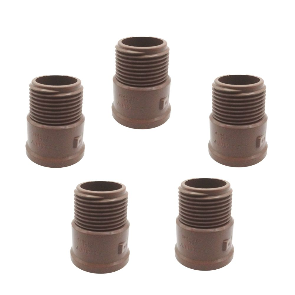"""Adaptador curto  PVC Soldável 32 mm x 1""""  5 peças"""