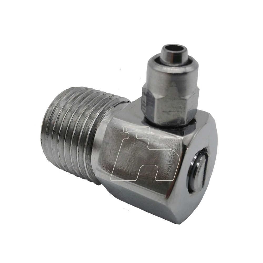 Adaptador Mangueira  filtro 6 mm com registro e Saída 90° -Hidrofer