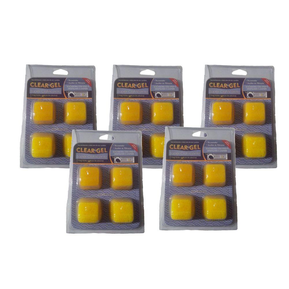 Clarificante filtração Piscinas Clear Gel  5 Cartelas- Maresias