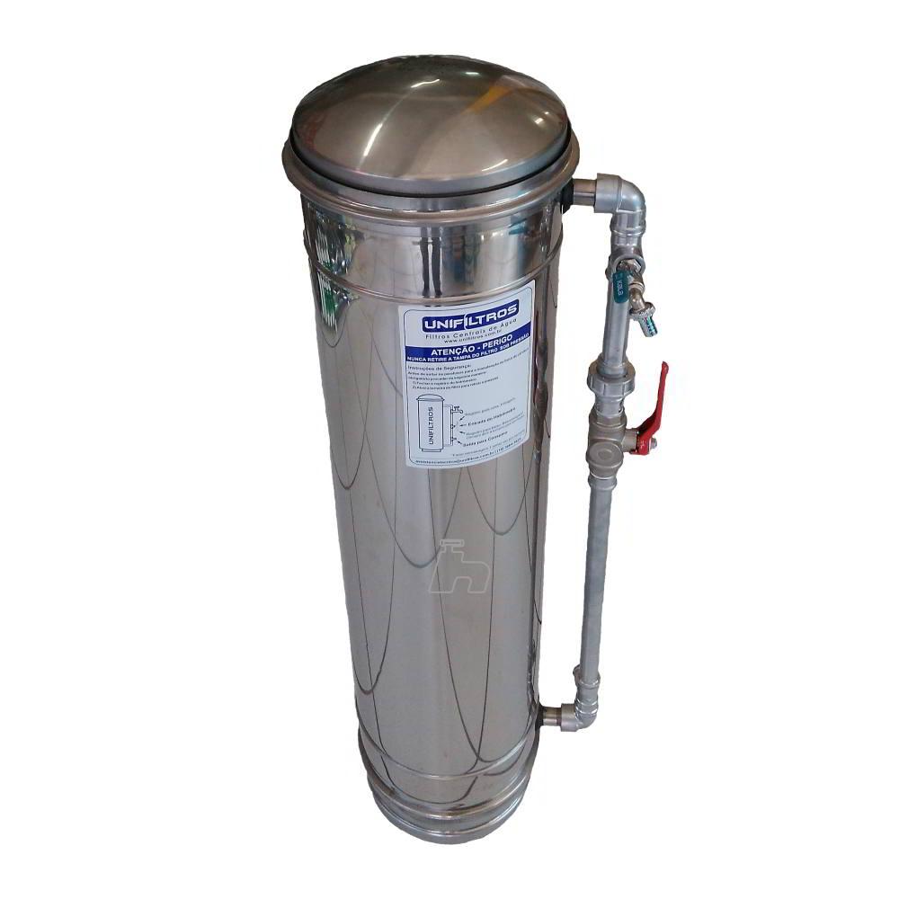 Filtro Inox p/ Entrada de água Central Unisol 6 camadas