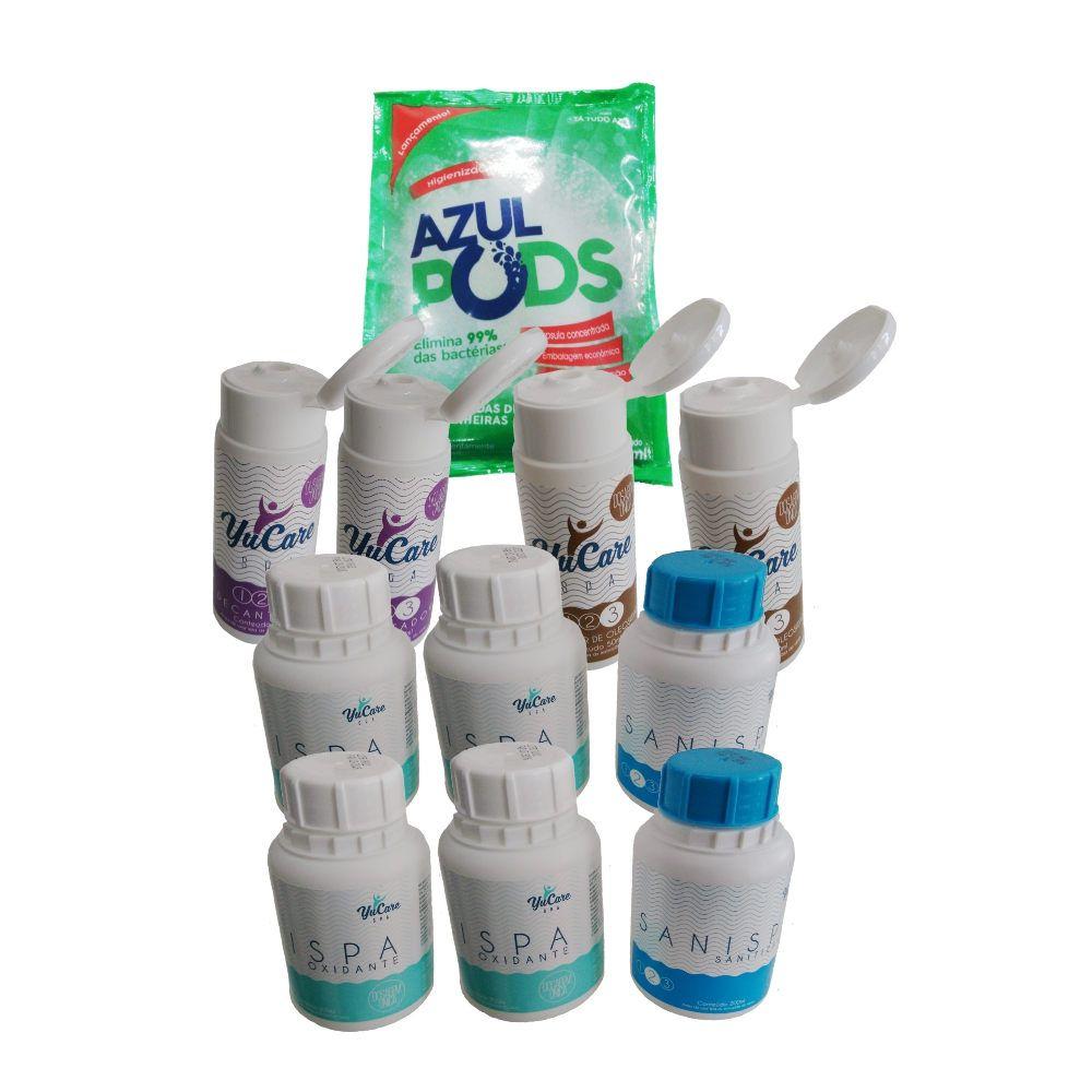 Kit Tratamento Sem Cloro  limpeza Spa (11 Itens)  Maresias