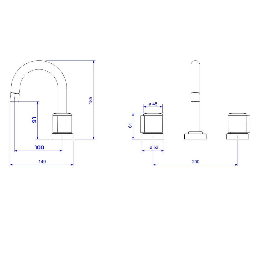 Misturador Lavatório 1877 C43 -Deca