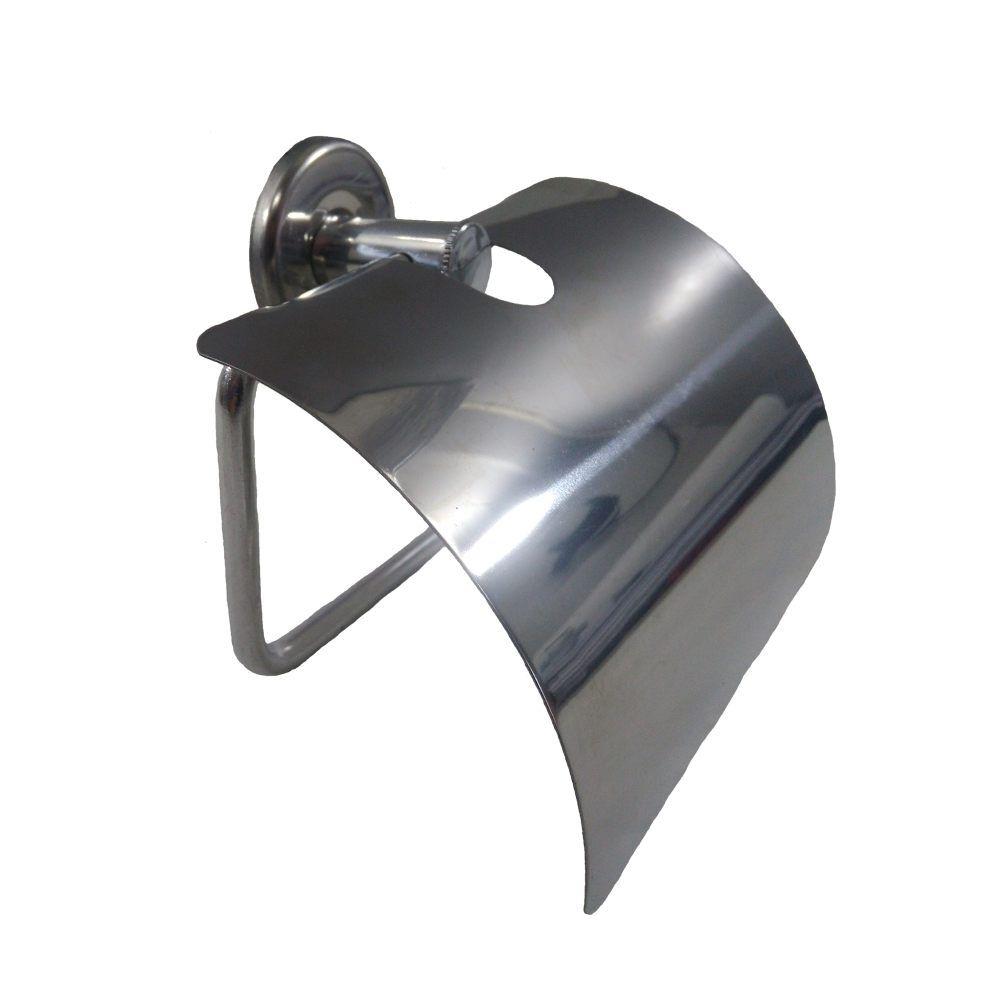 Papeleira com Tampa Sobrepor Metal Cromada hidrolar
