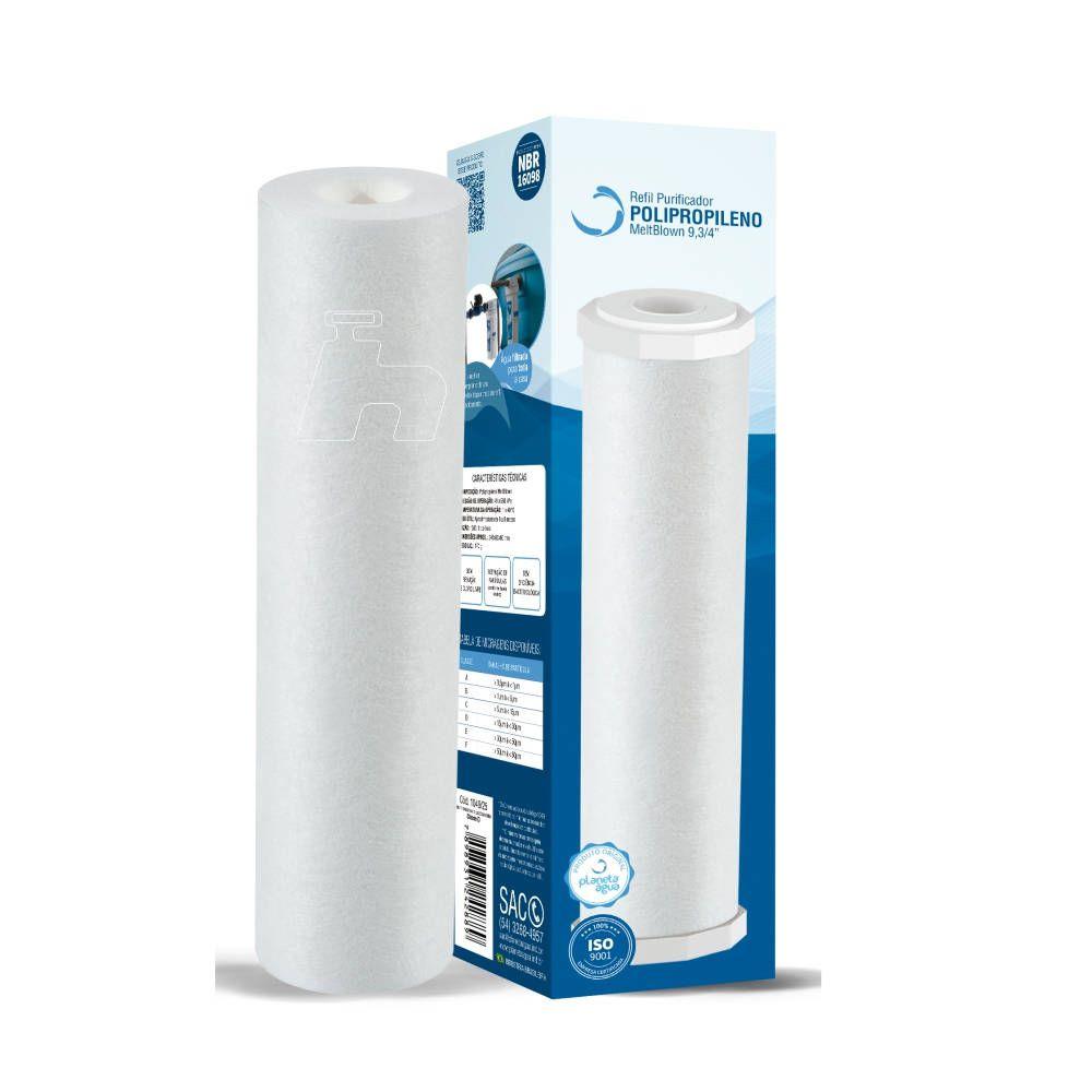 "Refil Filtro Polipropileno Celulose 9 3/4"" -Planeta água"