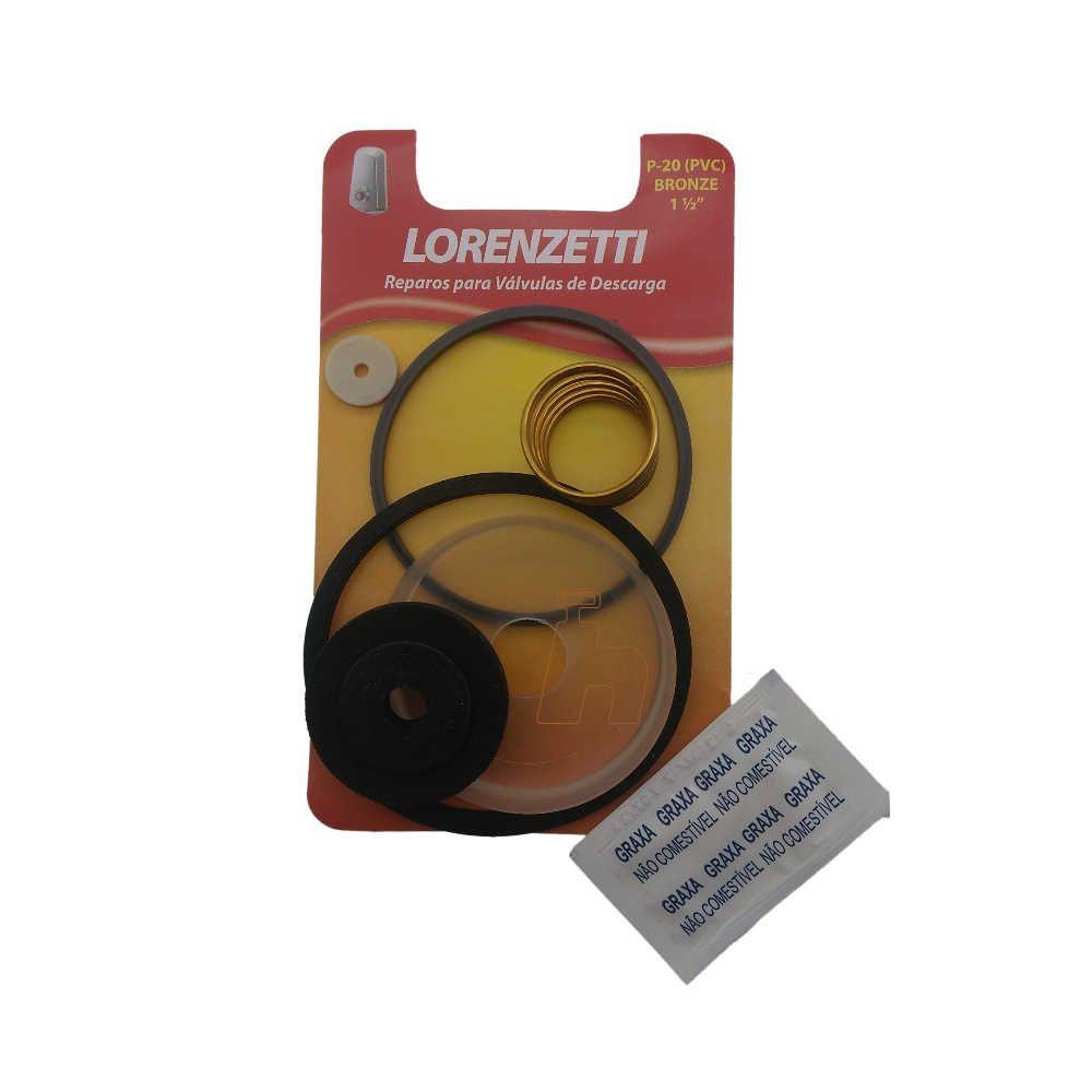 Reparo Válvula Descarga P20 Antiga Metal -Lorenzetti