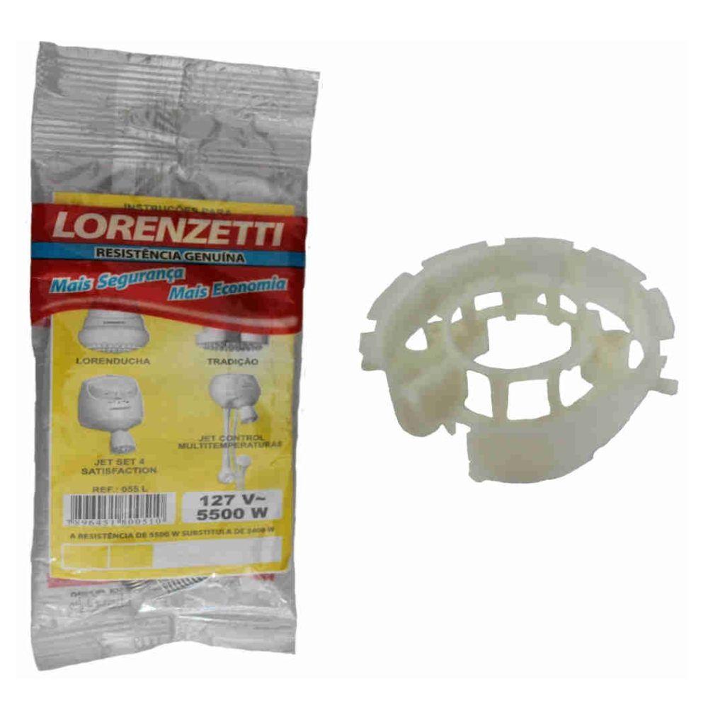 Resistência e suporte Lorenducha /Tradição / Jet Set / 127v 5500 W  -Lorenzetti