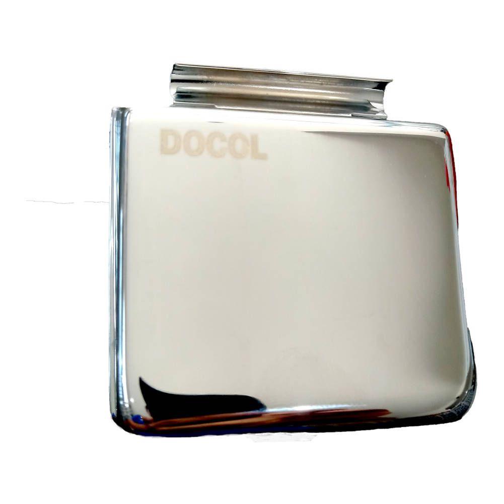Tecla Acabamento Válvula descarga Docol metal cromada -Docol