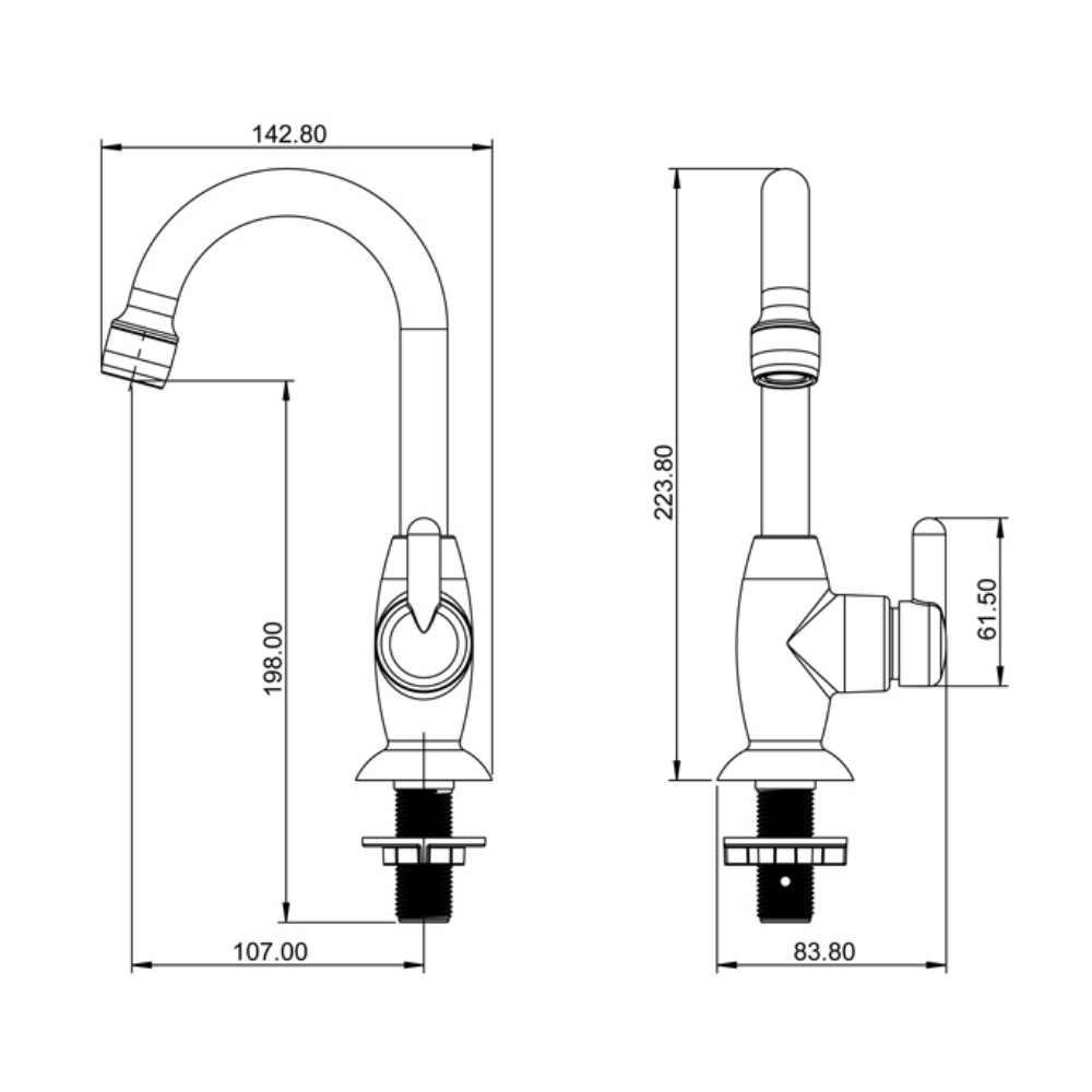 Torneira Lavatório ABS 1/4 Volta 1195 F31-Lorenzetti