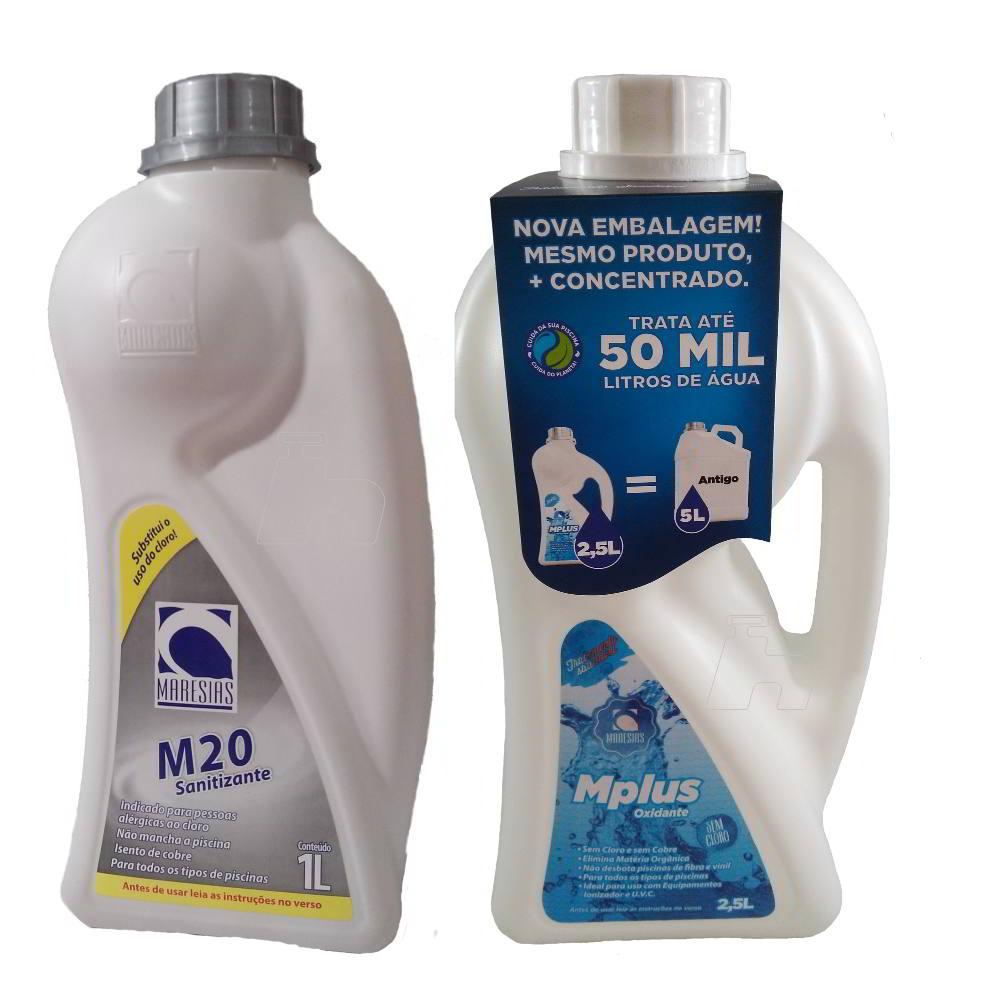 Tratamento Sem Cloro Piscina e SPA Kit M20 + M Plus - Maresias