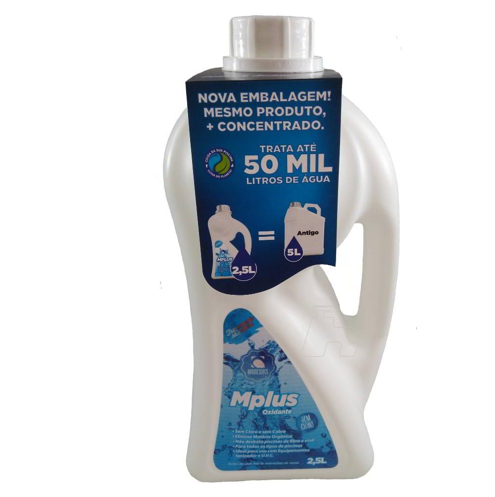 Tratamento sem cloro Piscina e SPA Oxidante Mplus 2,5l (03 frascos) - Maresias