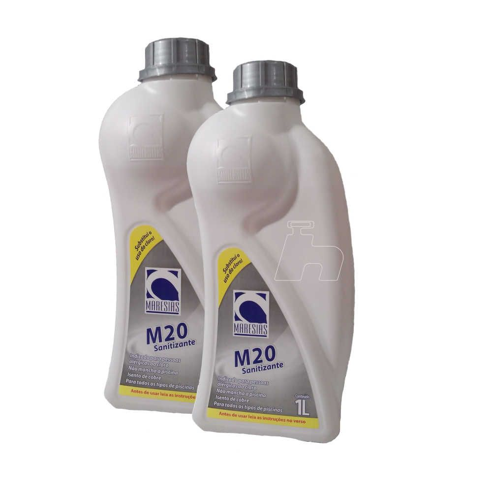 Tratamento Sem Cloro Sanitizante SPA Piscina M20 2 frasco - Maresias