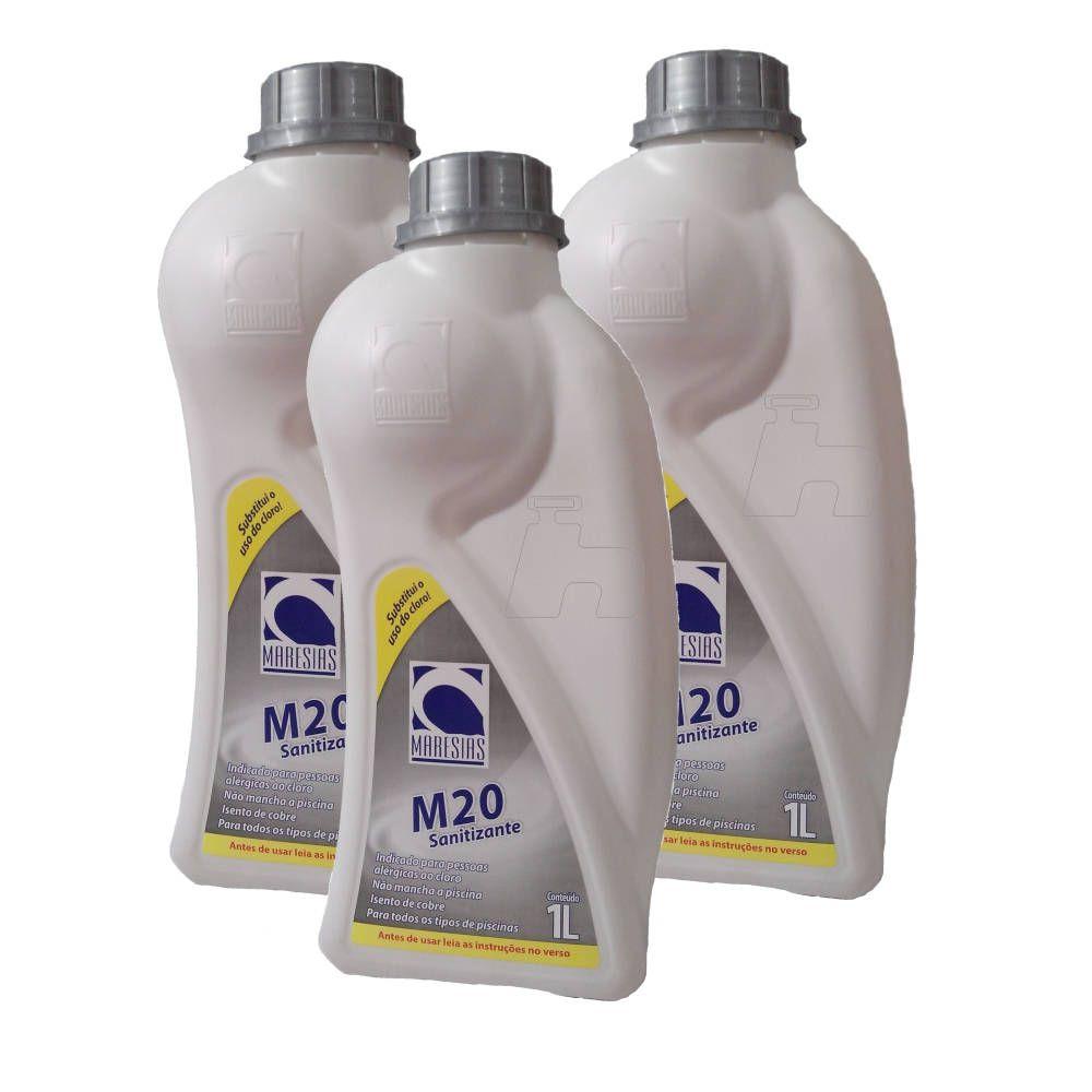 Tratamento Sem Cloro Sanitizante SPA Piscina M20 3 frasco - Maresias