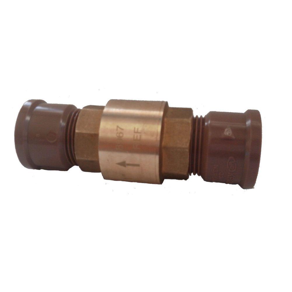 """Válvula bloqueadora de ar 3/4"""" com adaptador (03 kits)"""