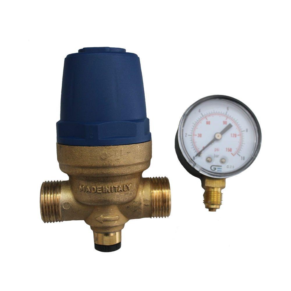 Válvula Reguladora Pressão D'água 3/4' Macho com Manometro