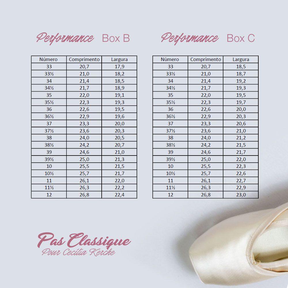 Kit Sapatilha Performance Palmilha Normal Box B + Sapatilha Meia-Ponta + Meia-Calça