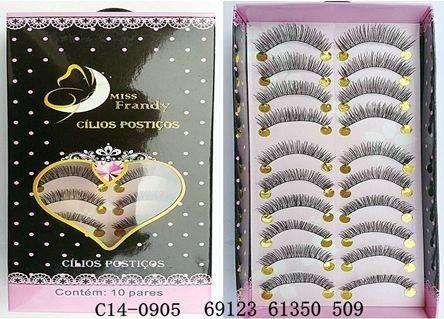 Cílios Postiços 10 pares Mis Frandy C14-905