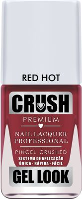 Esmalte Crush Efeito Gel Look Red Hot