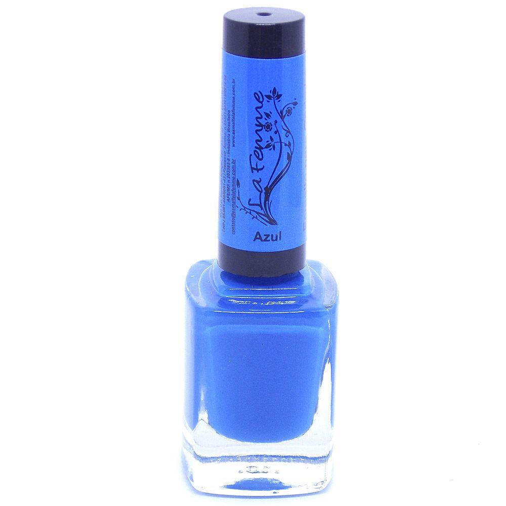 Esmalte Lafemme Azul Cremoso Carimbo