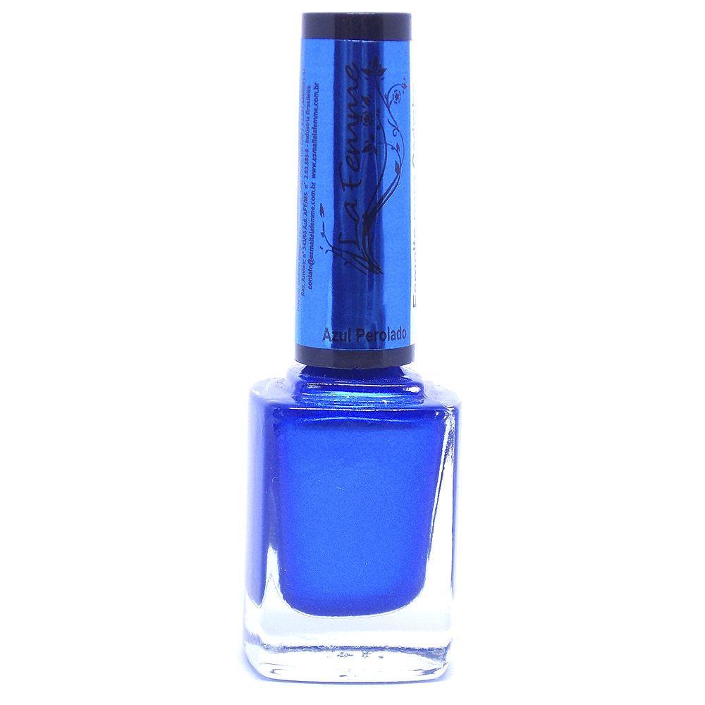 Esmalte LaFemme Azul Perolado Carimbo