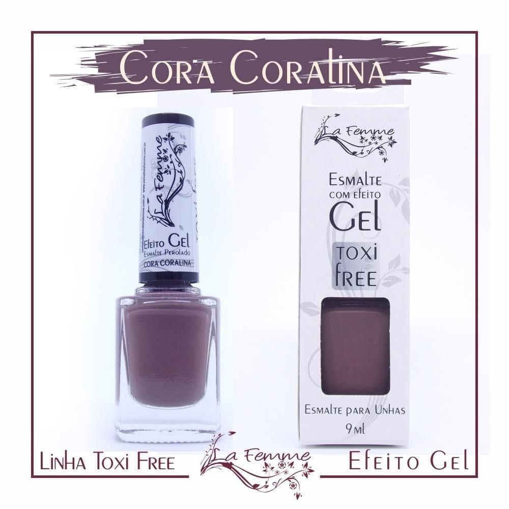 Esmalte Lafemme Toxi Free Efeito Gel Cora Coralina