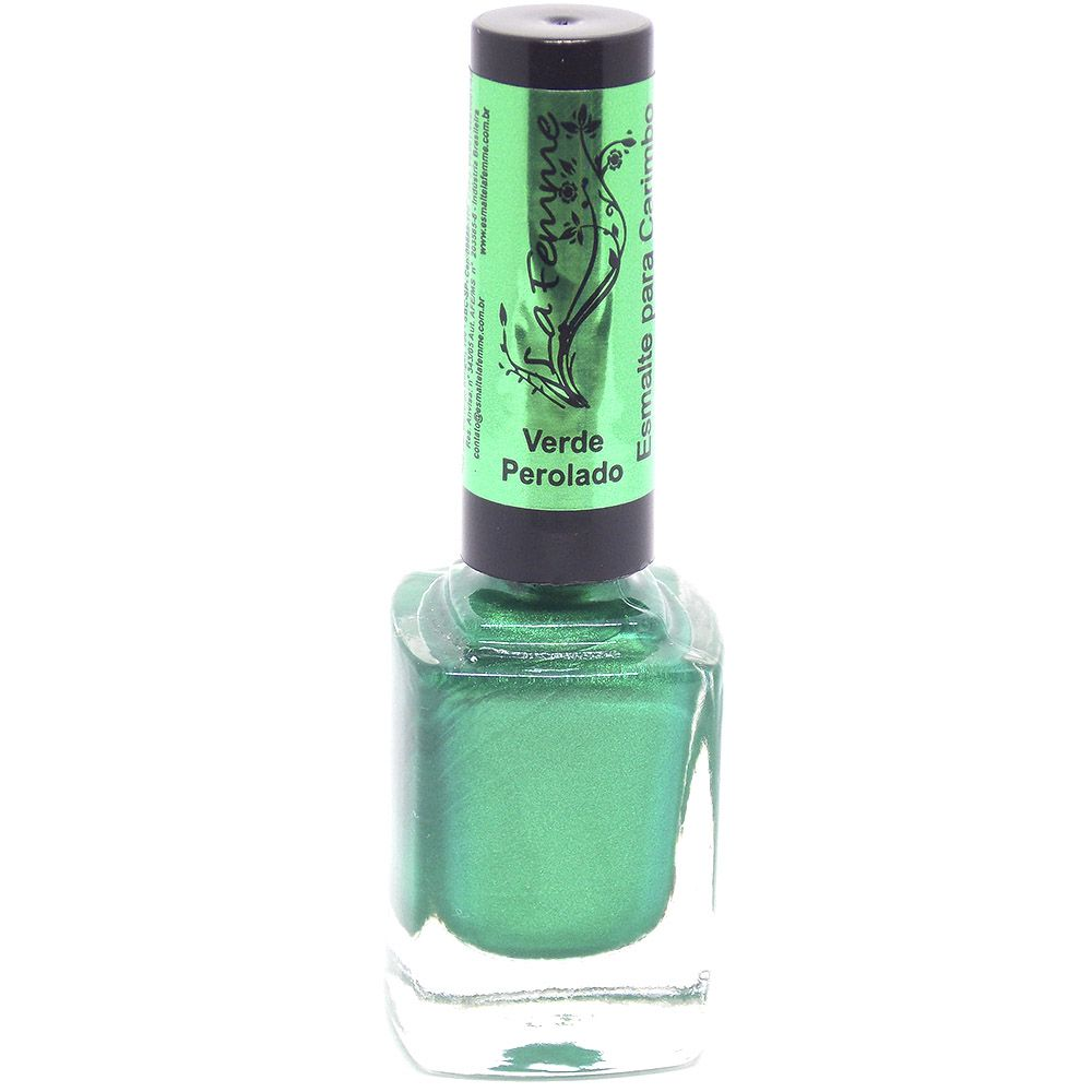 Esmalte LaFemme  Verde Perolado Carimbo