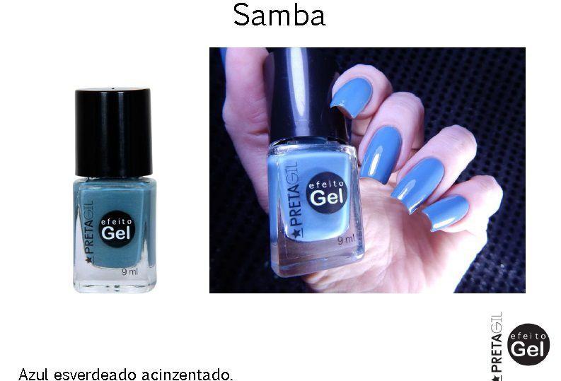 Esmalte Preta Gil Samba
