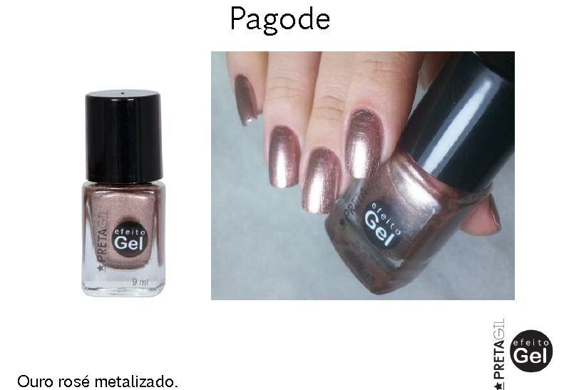 Esmalte Preta Gil Pagode