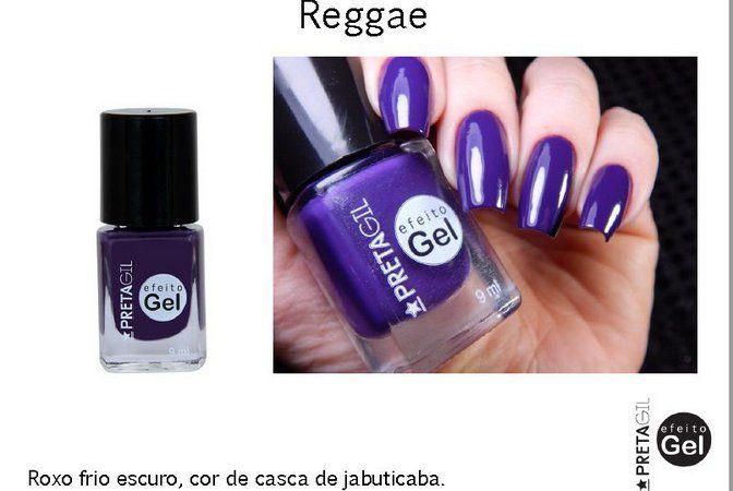 Esmalte Preta Gil Reggae