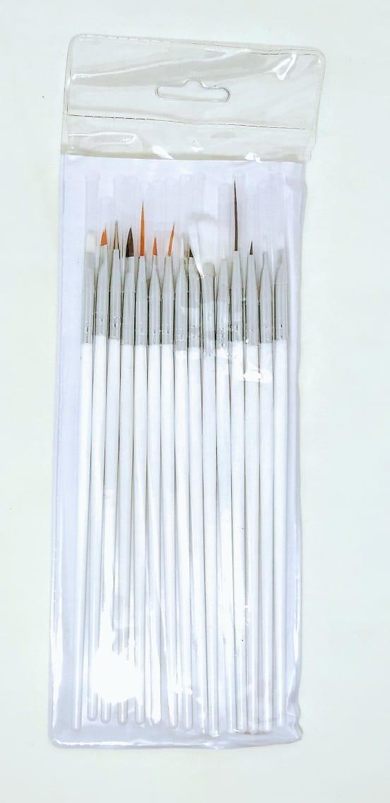 Kit Com 15 Pinceis Para Unha