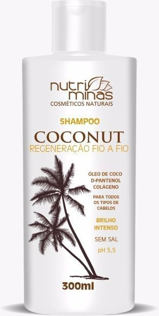 Shampoo Coconut Nutriminas 300ml