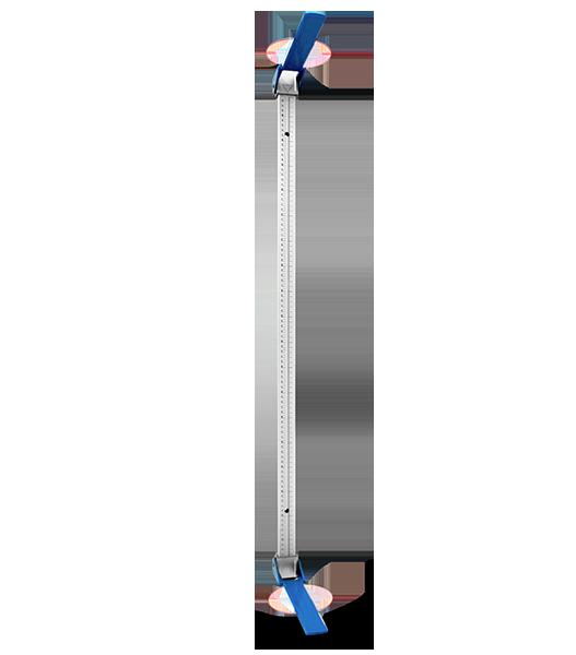 Infantômetro / Antropômetro  Infantil 20-100 cm - Tipo Régua em Alumínio - TEKLIFE