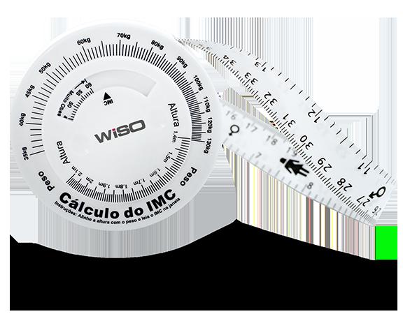 Trena Antropométrica p/ Circunferência Abdominal e Cálculo do IMC- 200 cm - WISO
