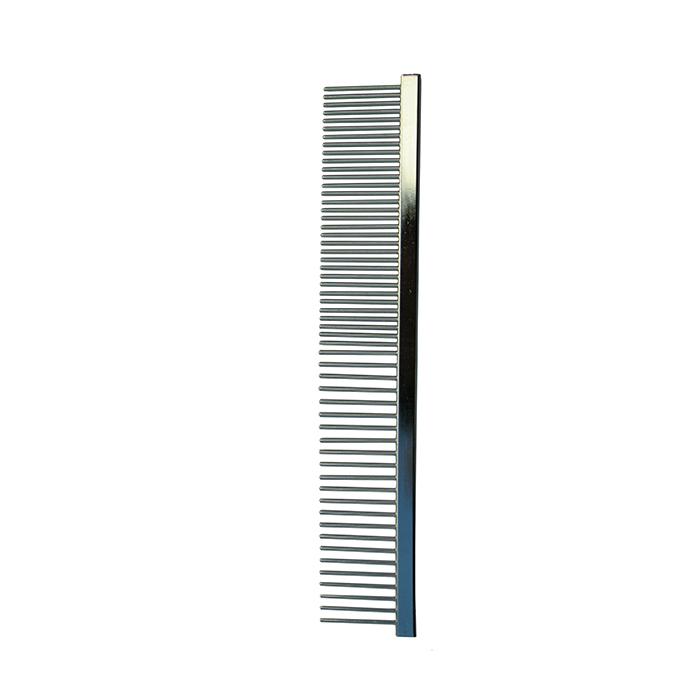 Pente de metal duplo - Cromado - Sem cabo  - ElanTrade Máquinas e Equipamentos para Estética Animal