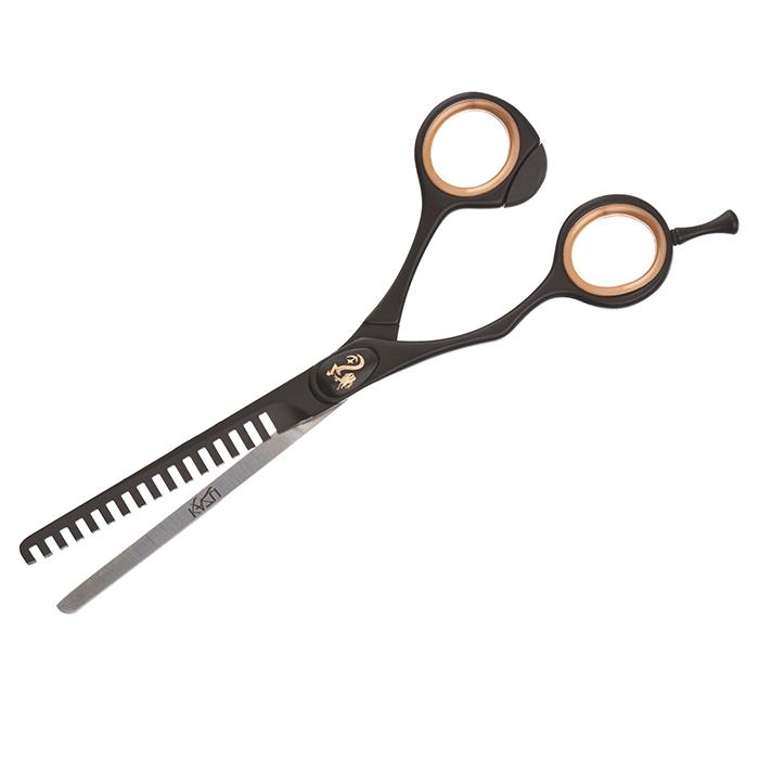 Tesoura Semi-Dentada 6,5´ (16,5 cm) Kazu-Oster  - ElanTrade Máquinas e Equipamentos para Estética Animal
