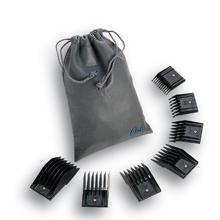 Kit de Pentes Adaptadores (Snap) - 7 Peças - Oster  - ElanTrade Máquinas e Equipamentos para Estética Animal