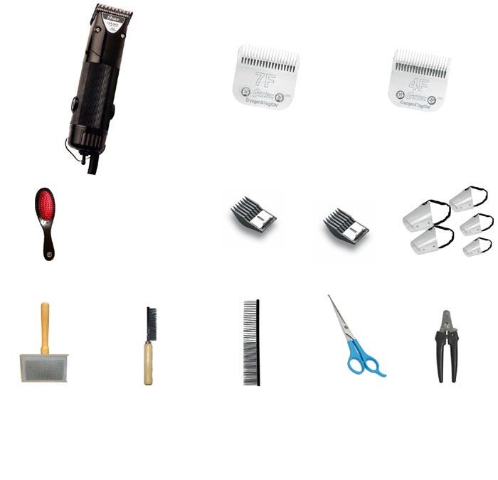 Kit Tosa Essencial – 16 Itens – com Golden A5 220V  - ElanTrade Máquinas e Equipamentos para Estética Animal